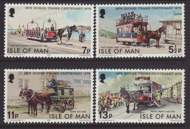 Isle of Man 82-85 Horse Trams MNH VF