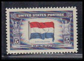 912 5c Flag of Luxembourg Fine MNH W3843