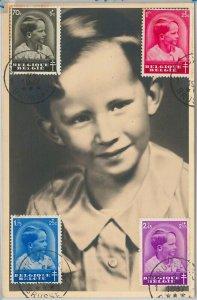 56993 - BELGIUM - POSTAL HISTORY: MAXIMUM CARD 1937 - ROYALTY