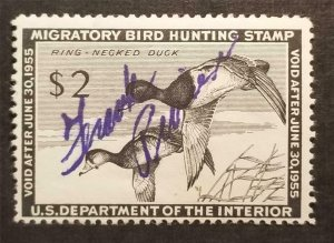 US RW21 1954 Duck Stamp $2 Used Signed T5226