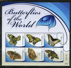 MICRONESIA BUTTERFLIES OF THE WORLD  SHEET MINT NH