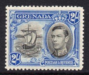 Grenada 1938 KGVI 2/- Ship perf 12½ SG 161 mint CV £45