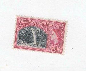 TRINIDAD & TOBAGO (MK6851) # 81 VF-MLH 60c QEII /TYPE OF 1938 /ROSE-CARM CV $25