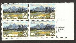 2444 Wyoming Statehood Zip Block Mint/nh FREE SHIPPING