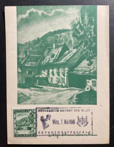 1947 Vienna Austria Picture Postcard First Day Cover FDC Export Museum