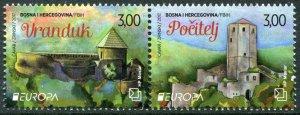 HERRICKSTAMP NEW ISSUES BOSNIA (CROAT ADMIN) Sc.# 348 EUROPA 2017 Castles