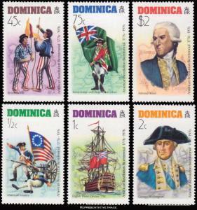 Dominica Scott 472-477 Mint never hinged.