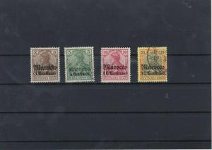 German Post Offices In Morocco In 1905 MNH+ Used Stamps  Ref: R6620