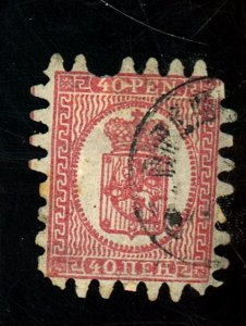 FINLAND 10 USED FINE PULLED PERF HR Cat $68
