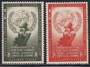 United Nations 29-30 MNH - Human Rights