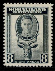 SOMALILAND PROTECTORATE GVI SG111, 8a grey, LH MINT.