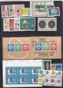 Uruguay Scott 706 // 793a Mint NH sets and S/S (Catalog Value $54.95)