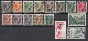 J25702 JLstamps 1940  WWII luxembourg set mh #n17-32 german occupation