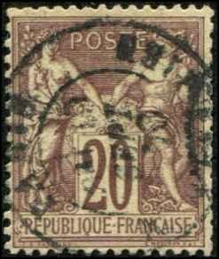 France SC# 70 Peace & Commerce 20c  Used / CDS  SCV $18
