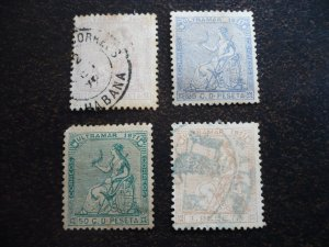 Stamps - Cuba - Scott# 50-53 - Used - Set of 4 stamps