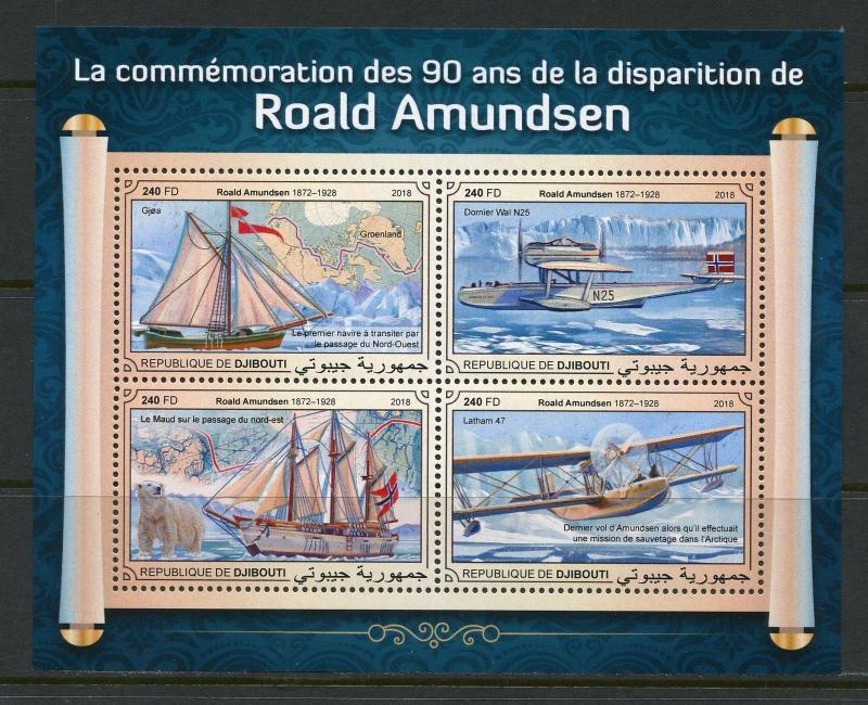 Z08 Imperf Djb18113b Djibouti 2018 Marine Life Mnh ** Postfrisch 100% Original Briefmarken