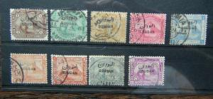 1897 set to 10pi Mauve SG1 - SG9 Fine Used