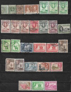 COLLECTION LOT OF 28 GOLD COAST 1884+ STAMPS CLEARANCE