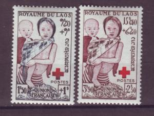 J15744 JLstamps 1952 laos mh part of set #b1,b3 red cross