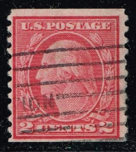 US STAMP #455 –1915 2c Washington,p.10 type III USED STAMP STAIN