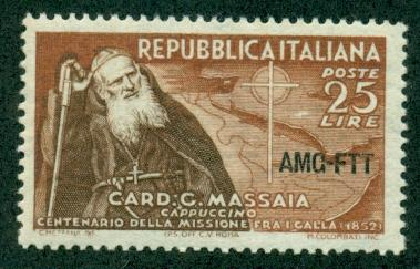 Trieste #156  Mint  VF NH  Scott $3.25  Cardinal Massaia