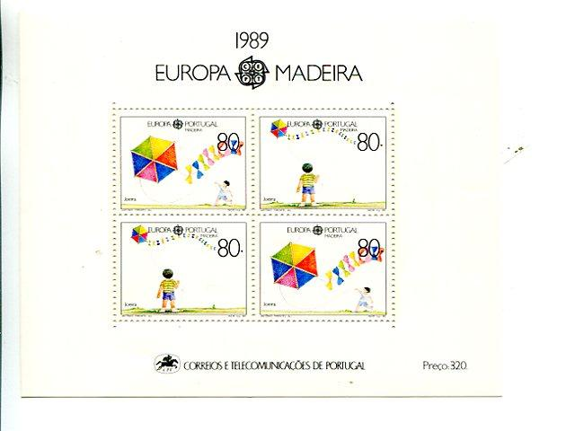 Portugal  Madeira 1989 Europa mini sheet   Mint VF NH