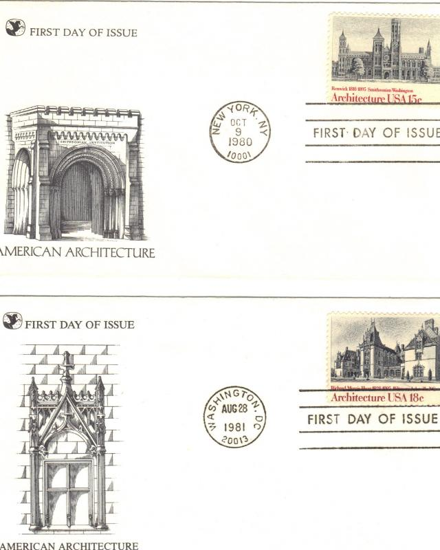 10 first day covers-scans 18-21
