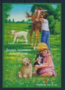 [37269] France Frankreich 2006 Farm animals Pets Souvenir Sheet MNH