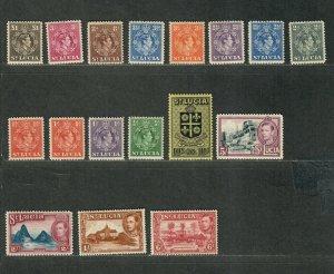 St. Lucia Sc#110-126 M/NH/VF, #125+126 Are LH, Cv. $75
