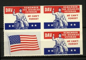 USA Remember the Disabled Veteran Charity Label