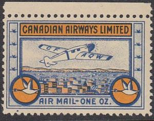 CANADA 1932 Canadian Airways semi official - mint no gum...................57213