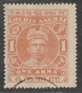 Inde / Cochin  1911  Scott No. 18  (O)