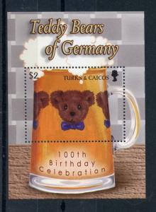Turks & Caicos Stamps 2003 MNH 100th Anniv Teddy Bears of Germany 1v S/S