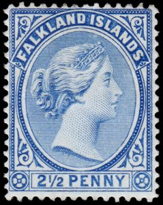 Falkland Islands Scott 15 (1894) Mint H F-VF, CV $50.00 M
