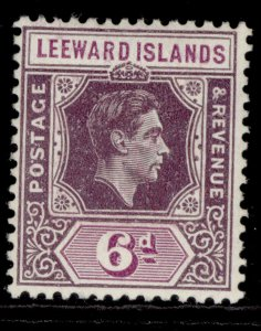 LEEWARD ISLANDS GVI SG109, 6d deep dull & bright purple, M MINT. Cat £32. CHALKY