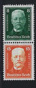 Germany Scott # B19, B20, mint hr, se-tenant, Mi# S36
