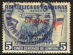 Honduras Air Mail Official 1959 Scott# CO101 Used
