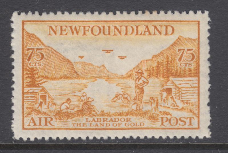 Newfoundland Sc C17 MLH  1933 75c bister View of Labrador