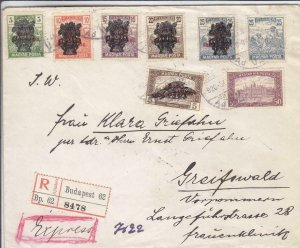 1920, Budapest, Hungary to Greifswald, Germany, See Remark (24410)