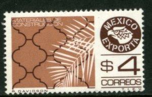 MEXICO Exporta 1172Var, 37.2mm, $4P Constr Wmkd Fosfo Paper 2 MNH