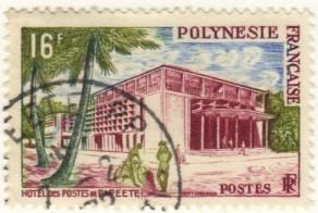 French Polynesia #195 used – hotel