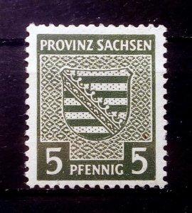 Germany Provinz Sachsen Mi 75Yb Plate Flaw I