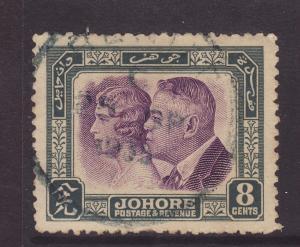 1935 Johore 8c Fine Used SG129.