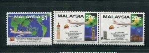 Malaysia #408-10 MNH