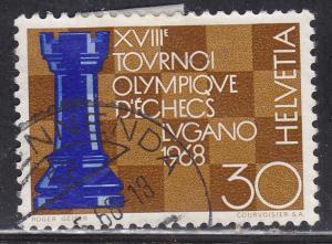 Switzerland 489 Hinged 1968 Chess Olympics