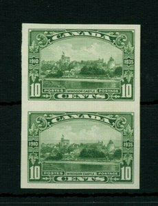#215 Windsor Castle IMPERF PAIR MNH VF Cat $600 mint Canada