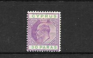 CYPRESS  1902-04  30pa   KEVII     MH    SG 51