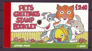 Z815 JLstamps 1999 ireland complete bklt mnh #1116a-b pets greeting stamps