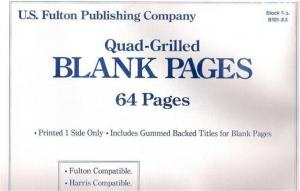 64 Brand New Quad-Grilled Blank Pages Will Fit Harris Albums Printed One Side