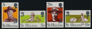 St Helena 378-81 MNH Boy Scouts, Baden-Powell